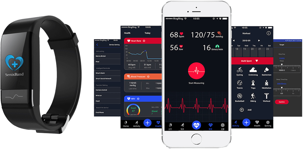 SenixBand Wearable Independent Living Fall Detection Technology with SenixCare Real-Time Health Monitoring